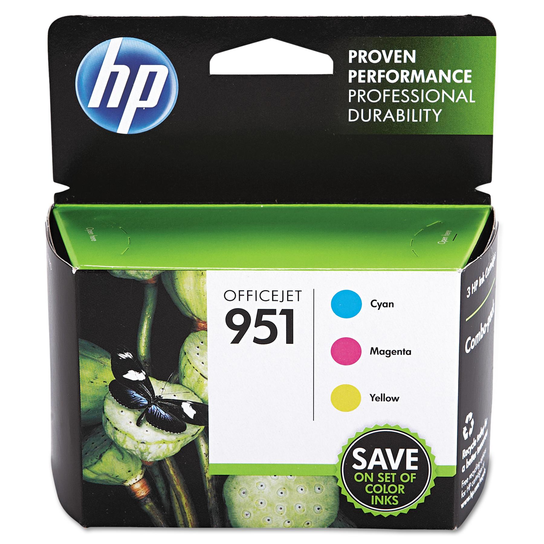 HP HP 951, (CR314FN) 3-pack Cyan Magenta Yellow Original Ink Cartridges by HP