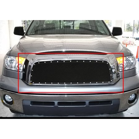 2007-2009 Toyota Tundra Stainless Steel Black Main Upper Wire Mesh Rivet Grille