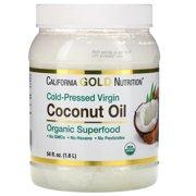 California Gold Nutrition Cold-Pressed Organic Virgin Coconut Oil, 54 fl oz (1.6 L)