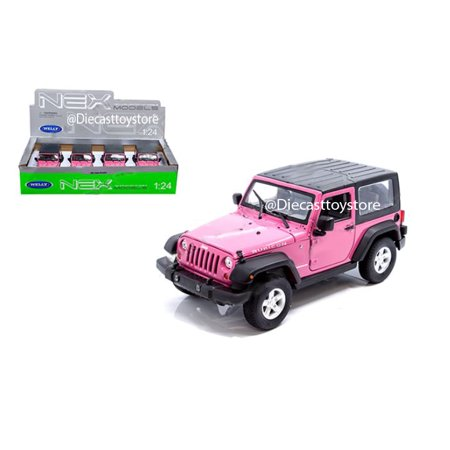 WELLY 1:24 DISPLAY - 2007 JEEP WRANGLER (PINK) 1 ITEM WITHOUT RETAIL BOX 28489HD-MJ-PK