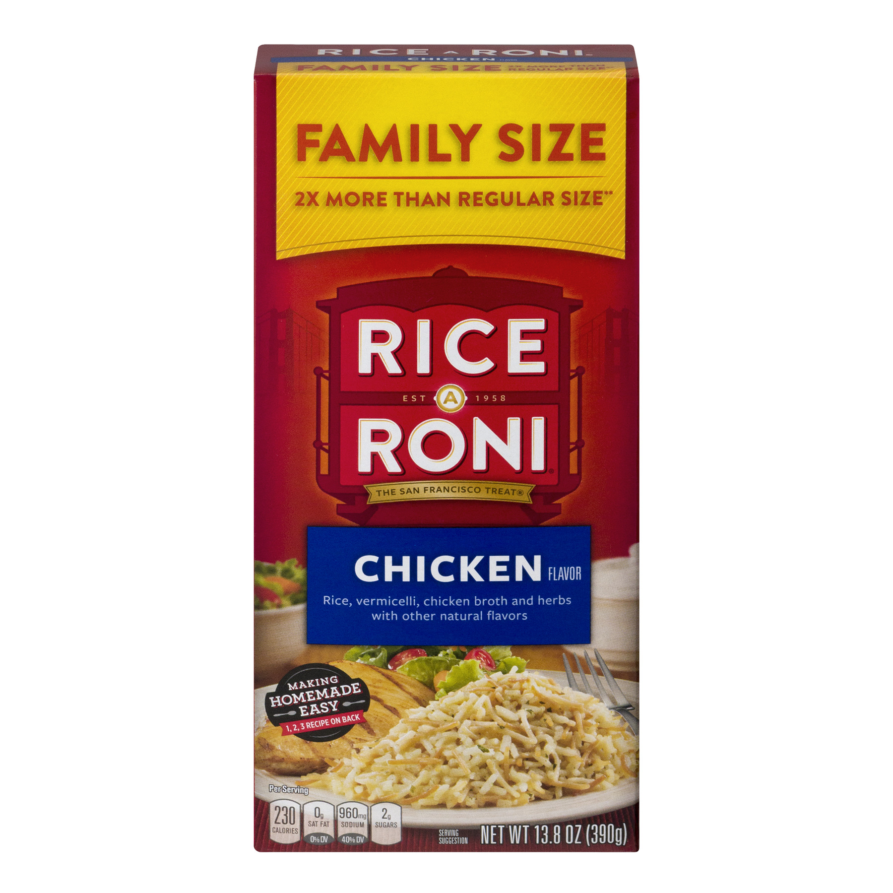 Rice-A-Roni Rice & Vermicelli Mix, Chicken, 13.8 oz Box