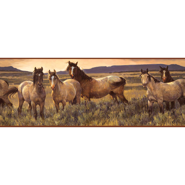 YORK Border Portfolio CH7813BD Grey Horse Border, Sand/Br...