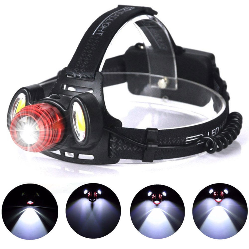 15000LM LED Rechargeable Headlight 4 Modes Flashlight Torch Zoomable Headlamp