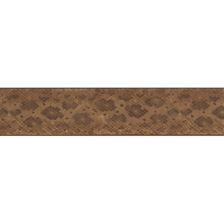 Brown Beige Abstract Wallpaper Border Checkered Geometric Design, Roll 15' x 5.25'' - image 2 of 3