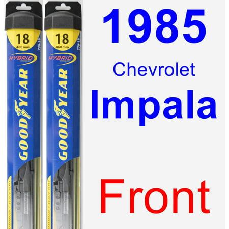 Chevrolet Impala Hybrid (1985 Chevrolet Impala Wiper Blade Set/Kit (Front) (2 Blades) - Hybrid)