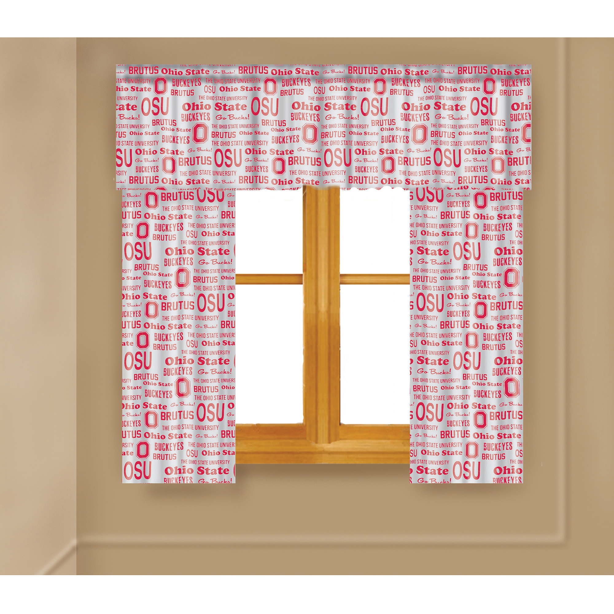 NCAA Ohio State Buckeyes Window Curtain Panels