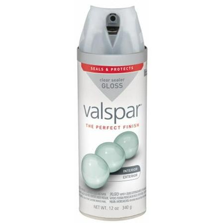 Valspar Brand 410-85058 SP 12 Oz Clear Gloss Premium Enamel Spray Paint - Pack of