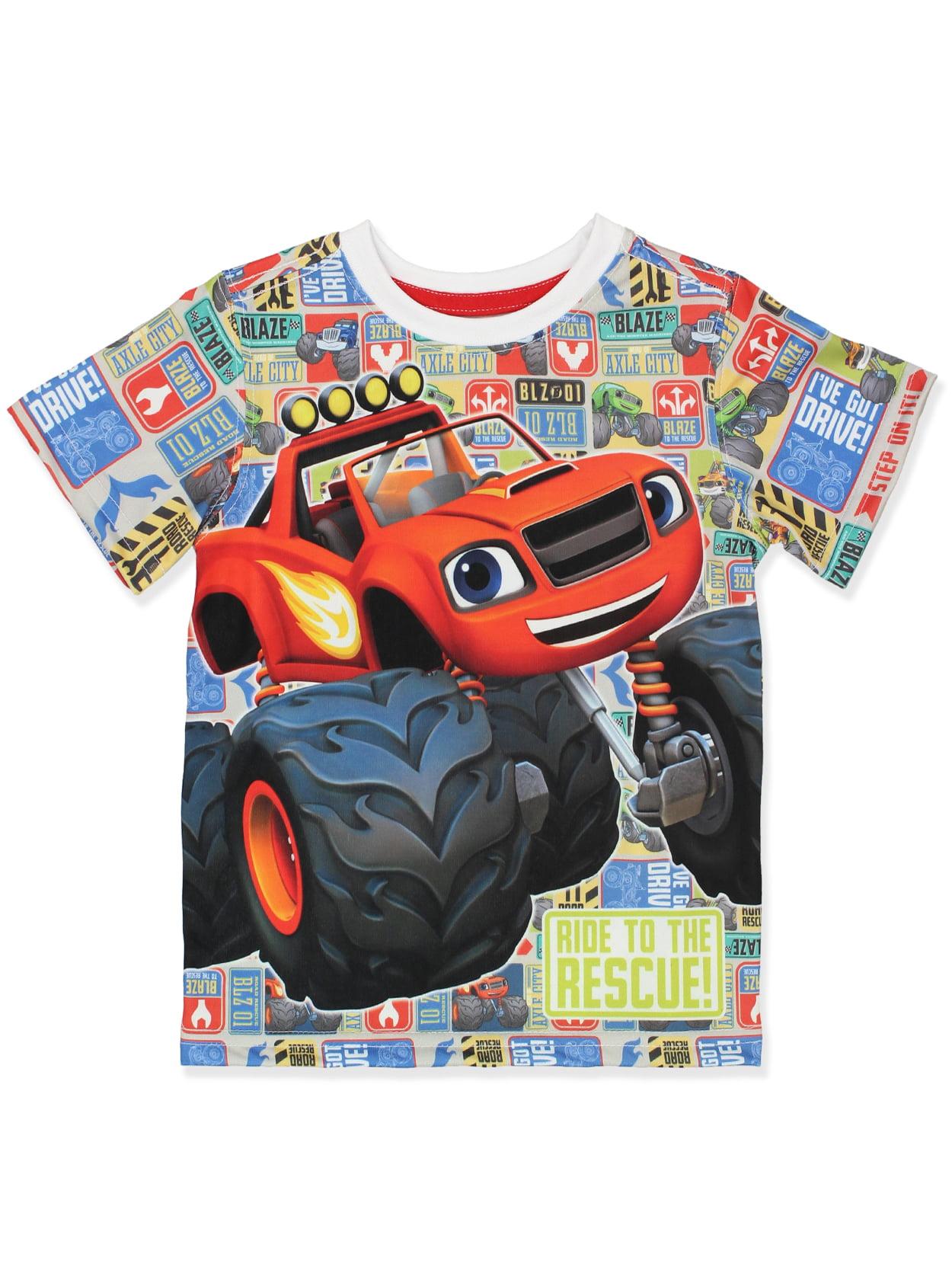 Nickelodeon Blaze and the Monster Machines Boys Short Sleeve Tee 8NZ6756