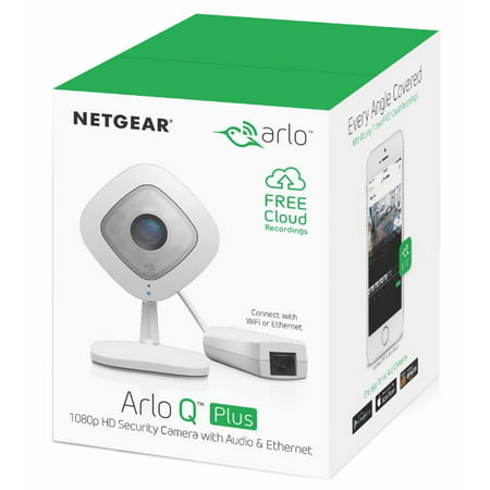 Arlo Q Plus 1080P HD Security Camera VMC3040S - 1 Wired Camera with Two-Way Audio, Night Vision, Motion Detection, Smart Alerts, Power over