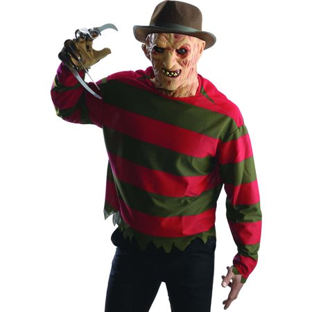 Freddy Krueger Shirt & Mask Costume Kit