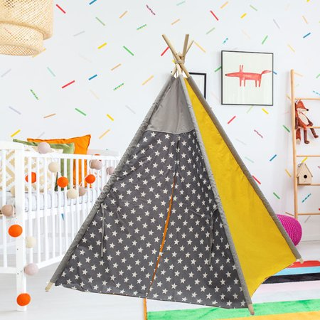 Indoor Teepee Tent Kids Children Playing Tent Indian Playhouse Sleeping Dome Christmas Birthday Gift - Christmas Play Kids