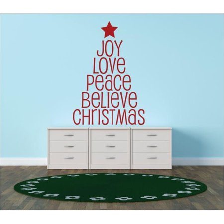 design with vinyl joy love peace believe christmas wall decal - Christmas Wall Decal