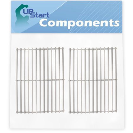 2-Pack BBQ Grill Cooking Grates Replacement Parts for Weber Spirit 500 - Compatible Barbeque Stainless Steel Grid (Cast Stainless Steel Cooking Grids)
