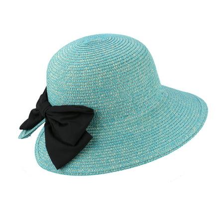 72713ff37fe AccessHeadwear - JOYCE Sun Styles 100% Paper Straw Ladies Cloche Style Sun  Hat - AH-061-PBL - Walmart.com
