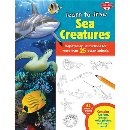 Halloween Quizzes For Kids (Learn to Draw (Walter Foster Paperback): Learn to Draw Sea Creatures: Step-By-Step Instructions for More Than 25 Ocean Animals - 64 Pages of Drawing Fun! Contains Fun Facts, Quizzes, Color)