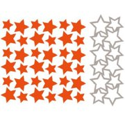Ecstasy Crafts Marianne Design Embossing Folder and Die, Stars, 2 by 5-Inch Multi-Colored