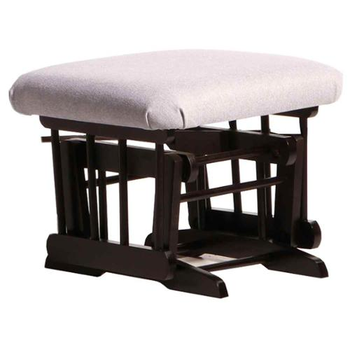ULTRAMOTION by Dutailier Espresso Ottoman For Sleigh and 2 Post Gliders in Light Grey
