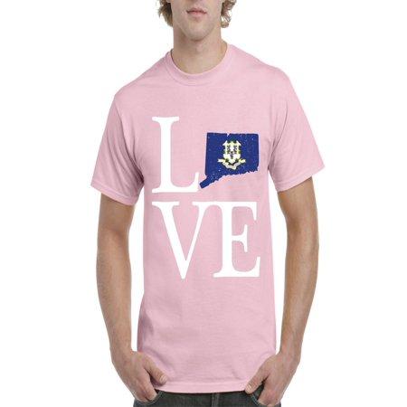 Love Connecticut Men Shirts T-Shirt Tee