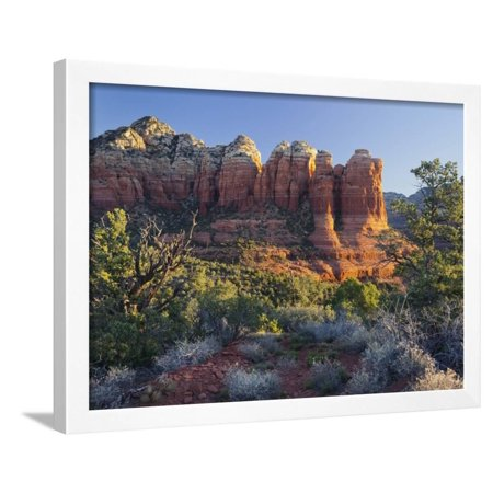 Coffe Pot Rock, Buena Vista Drive, Sedona, Arizona, Usa Framed Print Wall Art By Rainer Mirau ()