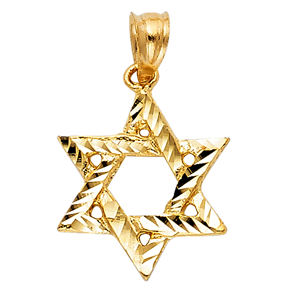 17mm x 11mm 14K Tri-Color Gold with White CZ Accented Small//Mini First Communion Charm Pendant