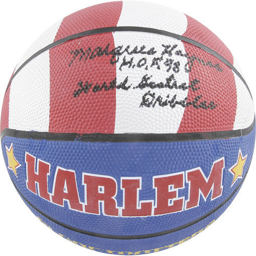 Mounted Memories Marques Haynes Globetrotters Autographed Basketball with ''HOF 98'' and ''World Greatest Dribbler'' Inscriptions