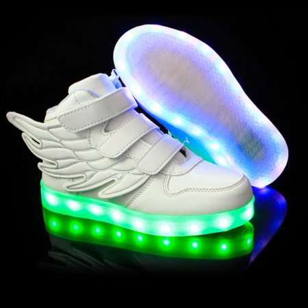 Girls Boys Kids Led Light Sneakers Shoes Flats Shoes with