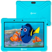 Contixo 10 inch Kids Tablet 2GB RAM 16GB WiFi Android 10 Tablet For Kids Bluetooth Parental Control Pre-Installed Learning Tablet Apps for Toddlers Children Kid-Proof Protective Case, K101A Blue