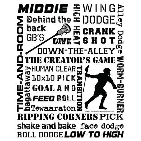 Lacrosse Middie Player Slang 16 x 20 Vinyl Wall