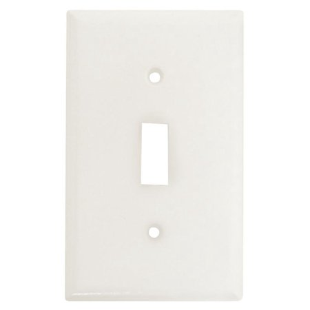 Cooper 2134W White Single Gang Toggle Light Switch Wall Plate