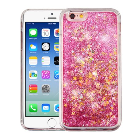 best sneakers dabf4 8b81e For iPhone 6s/6 Liquid Quicksand Glitter Bling Hybrid Protector Phone Cover  Case