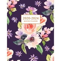 2020-2024 Monthly Planner: Large Five Year Planner with Floral Cover (Volume 4) (Paperback)