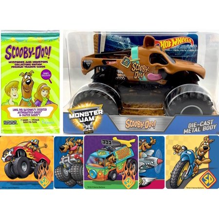 b2385737e8a 2017 Hot Wheels Monster Jam Scooby-Doo Character Truck Vehicle with Mystery  Trading Cards + Bonus Stickers 25th Anniversary - Walmart.com