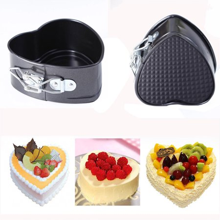 Non Stick Love Heart Shape Cake Pan Tin Diy Cake Mold Baking Cheese Bread Tray