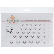 Peachy Keen Stamps Clear Face Assortment 31/pkg-wide Eyed & Bushy Tailed