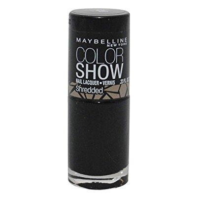maybelline color show shredded nail lacquer - carbon frost - 0.23 oz