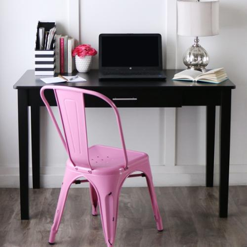 black wood writing desk Get to work at a spacious and organized worskpace with desks from pottery barn home office desk sets are exceptionally crafted and made to last.