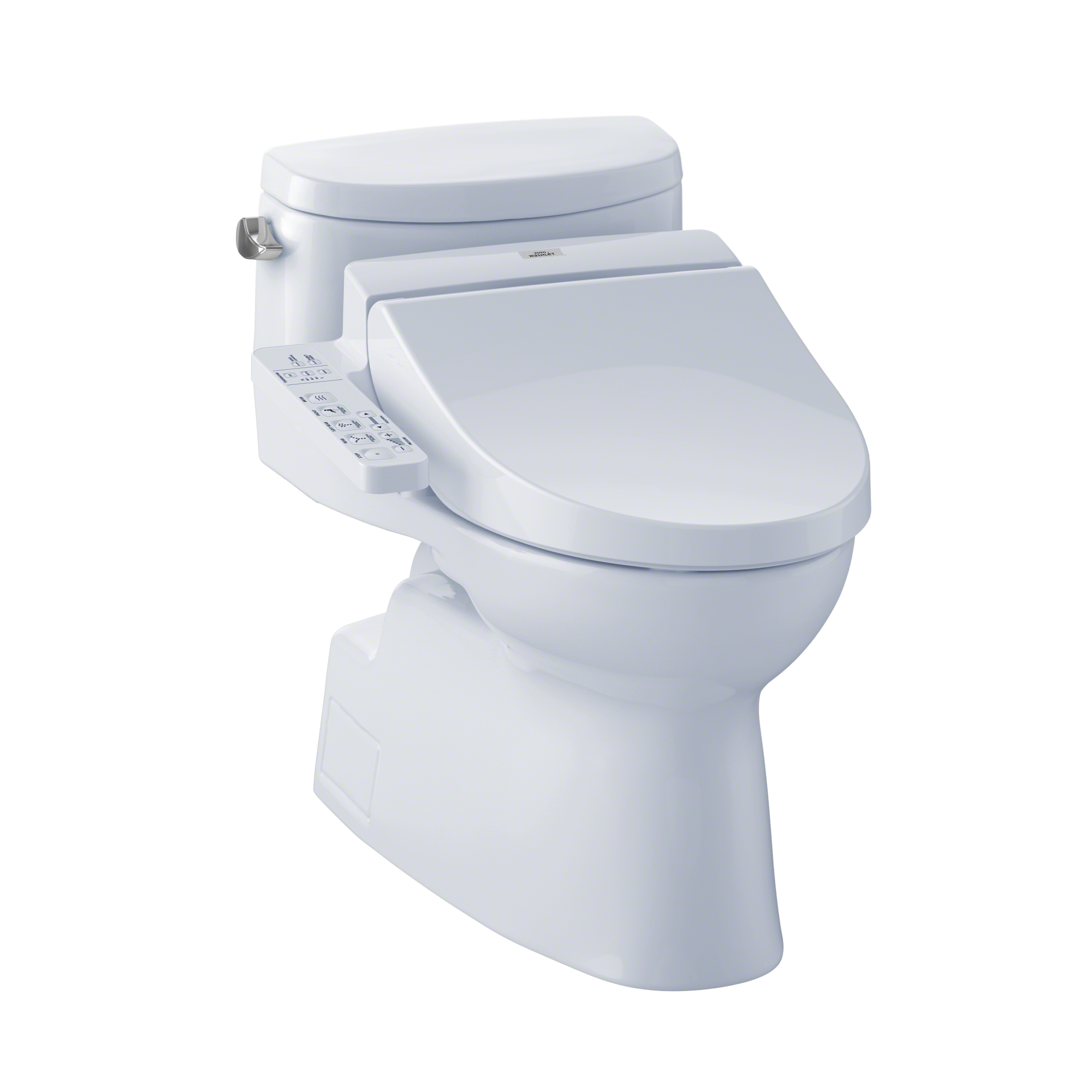 TOTO® Connect+® Kit Carolina® II One-Piece Elongated 1.28 GPF Toilet and Washlet® C100 Bidet Seat, Cotton White - MW6442034CEFG#01