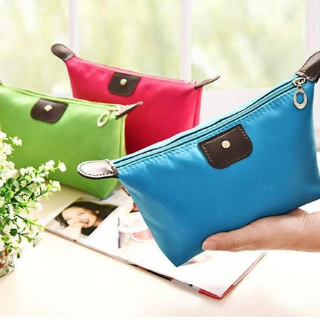 Waterproof Nylon Women Makeup Cosmetic Bags Travel Beauty Toiletry Bag - image 2 of 8