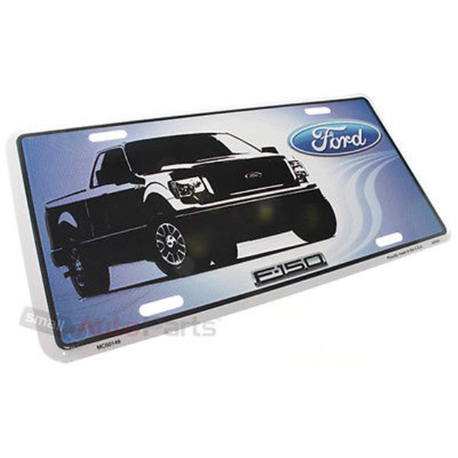 SmallAutoParts Aluminum License Plate - Ford F150