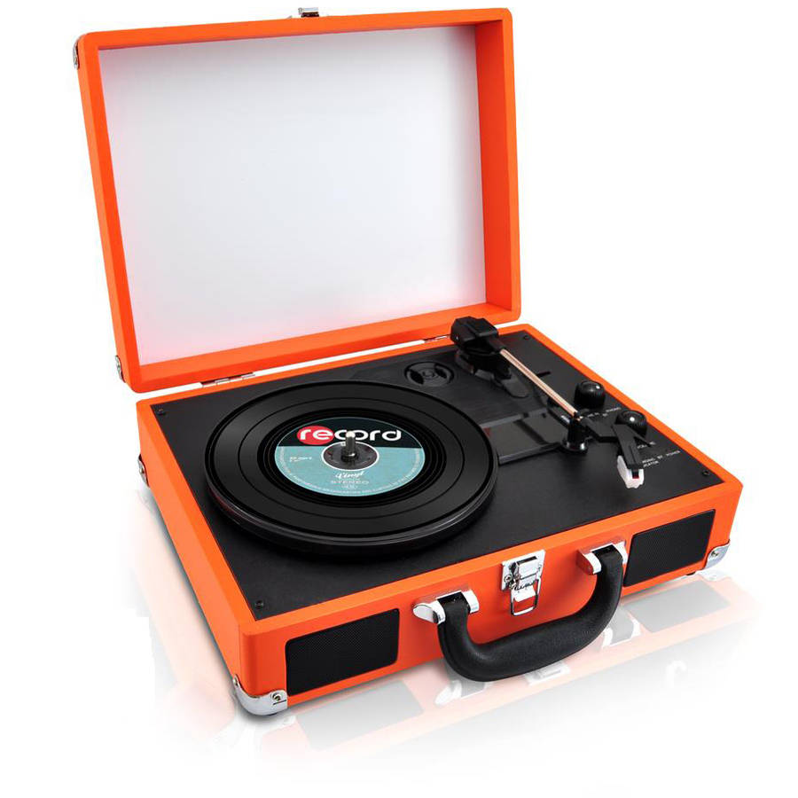 Pyle PVTTBT6BR Record Turntable - Belt Drive - 78, 45, 33.33 rpm - Brown