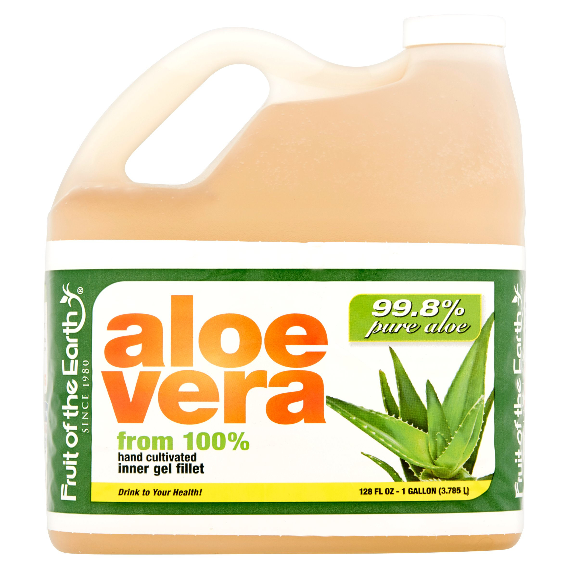 Fruit Of The Earth Aloe Vera Juice With 99.8% Aloe, 1 gal
