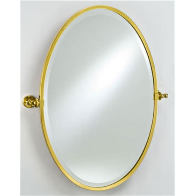 Afina Corporation RM-818-BR 18 in.x 26 in.Radiance Gear Tilt Oval Mirror Polished Brass by Afina Corporation
