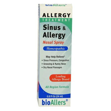 bioAllers Allergy Treatment Sinus & Allergy Nasal Spray, 0.8 fl Oz