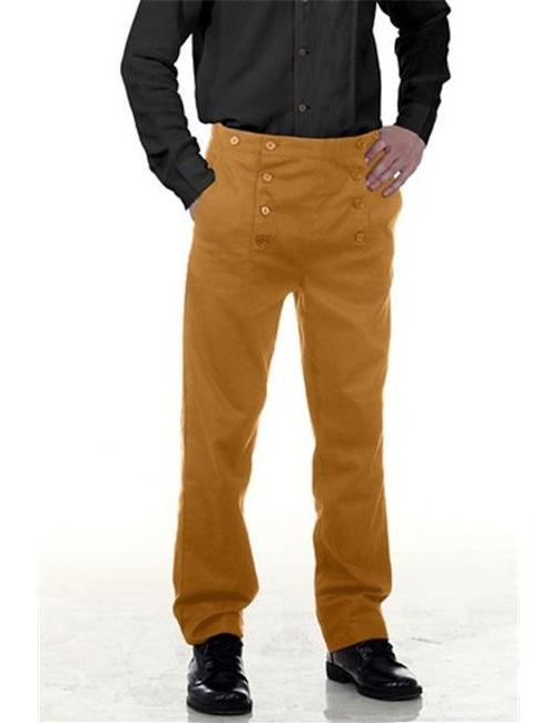The Pirate Dressing C1403 Architect Mens Hundred Percent Cotton Pants, Orange - Small