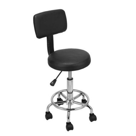 Ktaxon Adjustable Hydraulic Swivel Bar Stool Backrest Massage SPA Beauty Chair Rolling