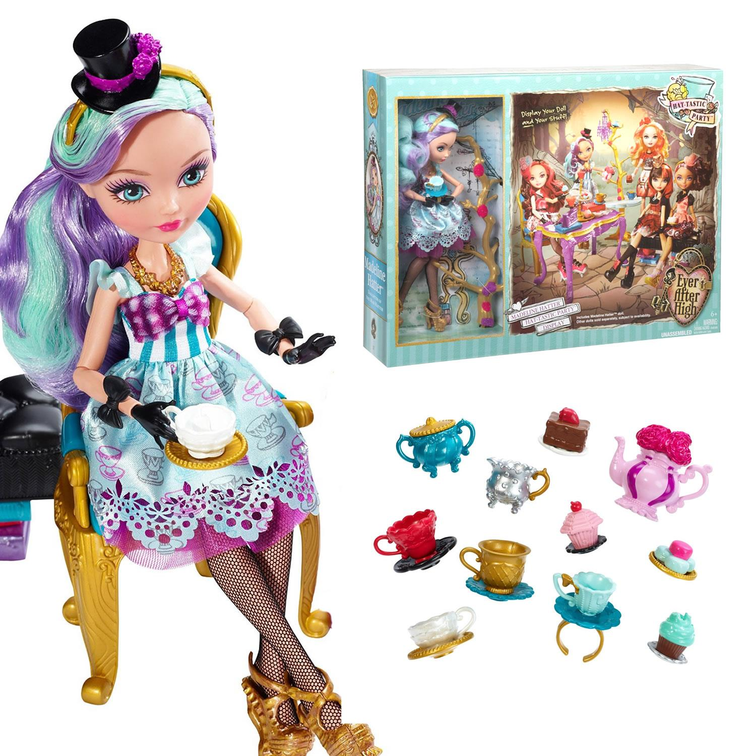 EVER AFTER HIGH HAT-TASTIC CEDAR WOOD DOLL REPLACEMENT JEWELRY EARRINGS NECKLACE