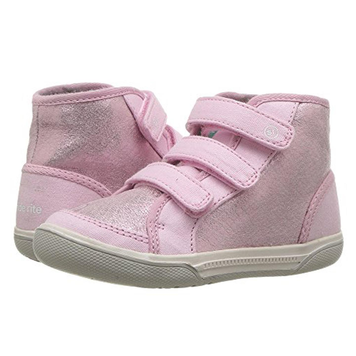 Stride Rite Ellis High Top Sneaker (Toddler) Pink 8.5 W by Stride Rite