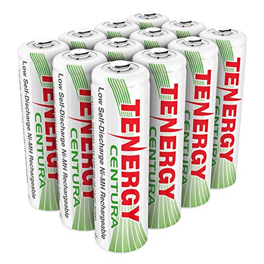 Tenergy Centura AA 2000mAh Low Self-Discharge (LSD) NiMH Rechargeable Batteries, 12-Pack