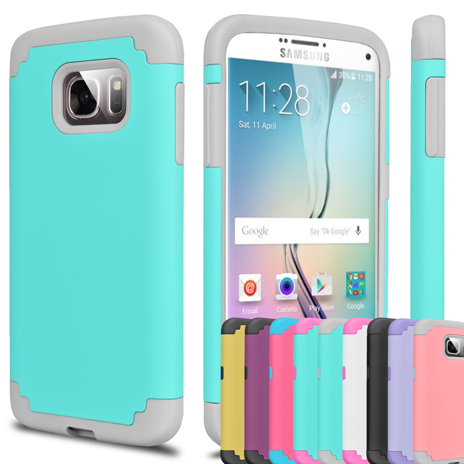 Galaxy S7 Edge Case, S7 Edge Case, Njjex Hybrid Rugged Rubber Shock Absorbing Plastic Impact Defender Hard Case Cover For Samsung Galaxy S7 Edge G935