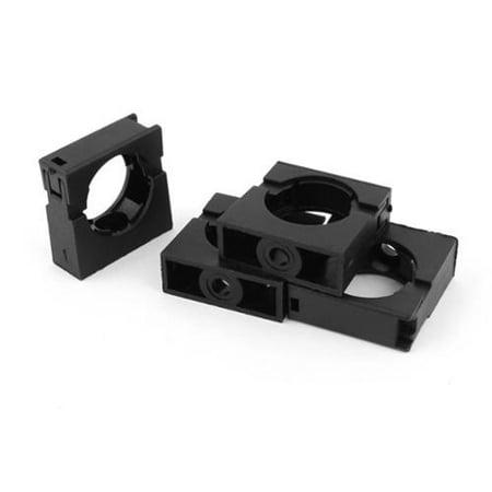 Unique Bargains 4pcs Black Fixed Mount Pipe Clip Bracket Clamp for 28.5mm Dia Corrugated Conduit